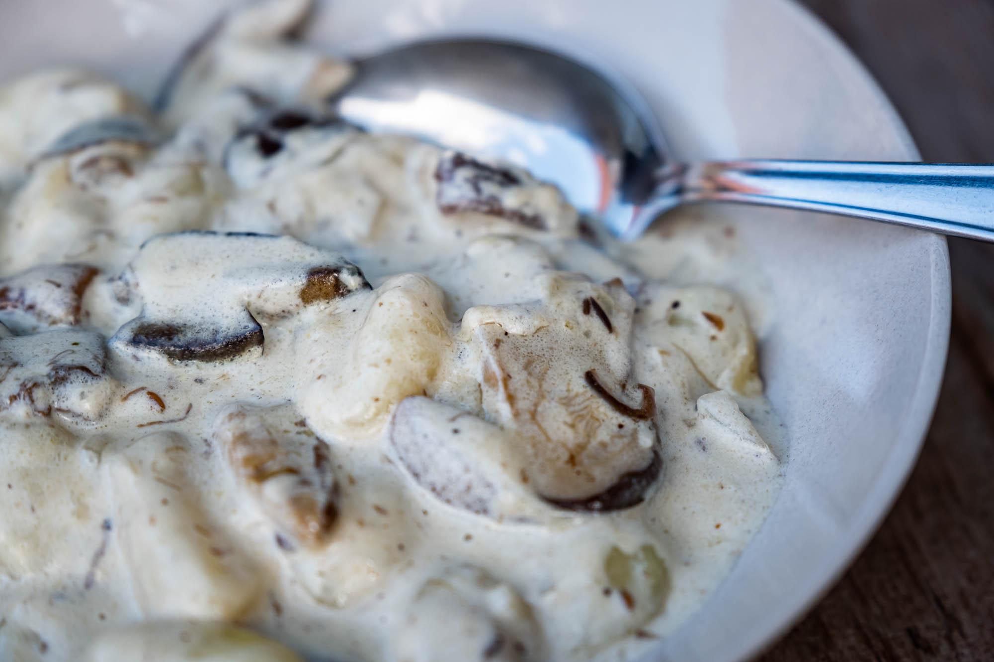 Gnocchi s houbovou omáčkou