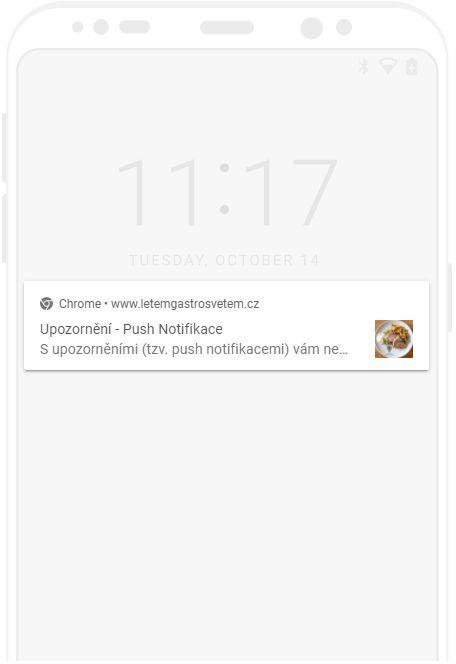 Upozornění, push notifikace na Androidu