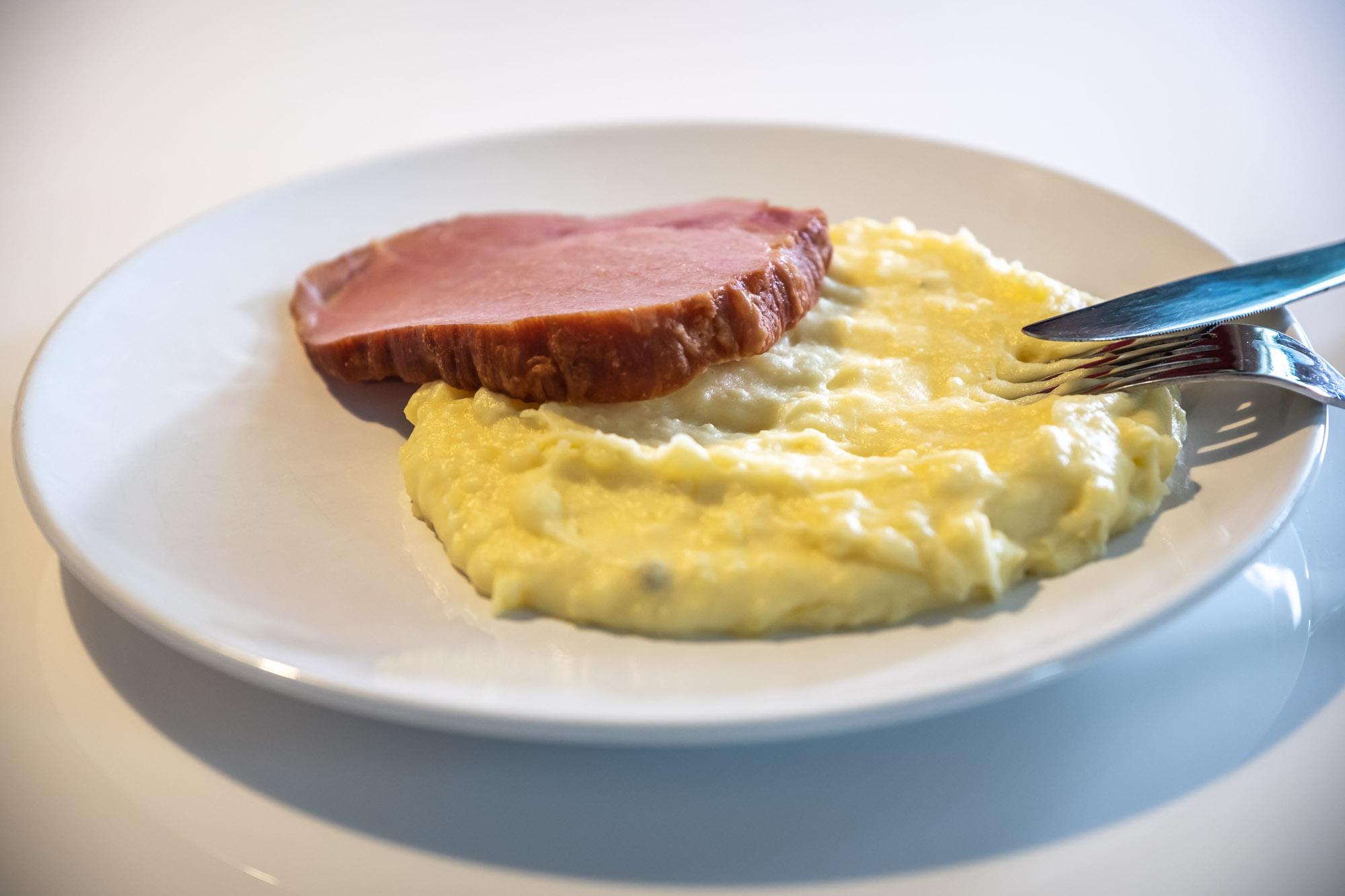 Uzené maso s bramborovou kaší